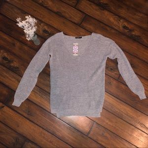 Silver sweater, NWT